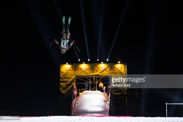 Tanner Hall of the USA performs during the Sosh Big Air finals on October 7 2017 in Annecy France
