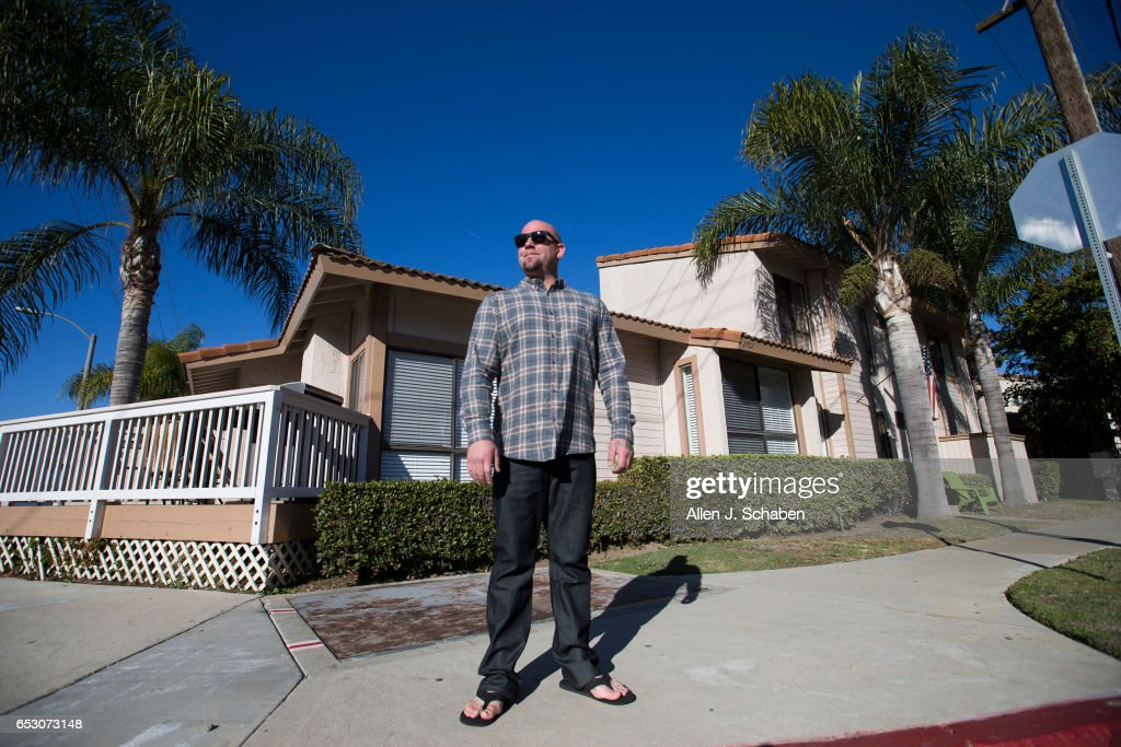 Tanner Mester stands at the corner where he was stabbed in the chest by Eric Lund in a drunken encounter in 2011. To Mester's surprise, Lund was permitted, as part of a plea deal, an option Mester didn't even know existed -- for $100 a night, pay to stay a smaller city jail instead of the overcrowded dingy Orange County jail. Lund paid $36,500 to serve his year-long sentence in Seal Beach jail for aggravated assault. Mester, who had served time in state prison for drug offenses as a younger man, was trying to turn his life around at the time, with a newborn child and a budding plumbing business. Photo taken Sunday, Dec. 4, 2016.