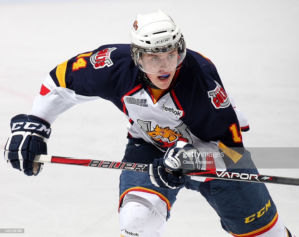 Tanner Pearson #14 of the Barrie Colts skates in a game against the Peterborough Petes & Barrie Colts v Peterborough Petes Photos and Images | Getty Images memphite.com