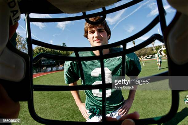 Tanner Souza poses for a portrait at Saint Bonaventure High School in Ventura on October 27 2010 The senior has a 40 GPA boxes and is an entrepreneur