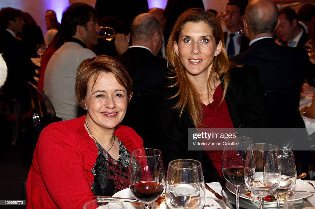 Tanni Grey-Thompson (L) and Monica Seles attend the Laureus Sport For Good Foundation Banquet held at Pinacoteca di Brera on November 18, 2010 in Milan, Italy.