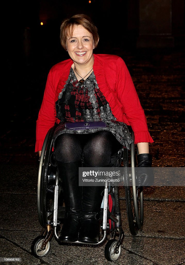 Tanni Grey-Thompson arrives at the Laureus Sport For Good Foundation Banquet held at Pinacoteca di Brera on November 18, 2010 in Milan, Italy.