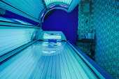 Photo of a Tanning bed at tanning salon.