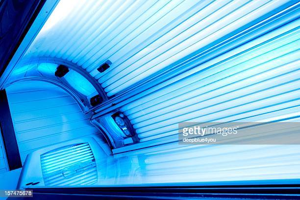 Tanning Bed - open and lights switched on