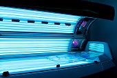 Tanning bed solarium at health club spa.