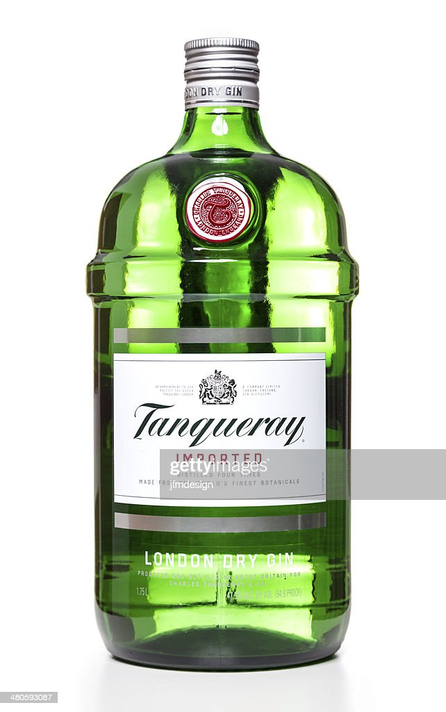 Tanqueray London Dry Gin bottle : Stock Photo