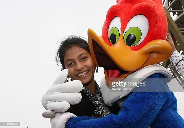 Tanvi Ganesh Lonkar of 'Slumdog Millionaire' visits Universal Studios on February 21 2009 in Universal City California