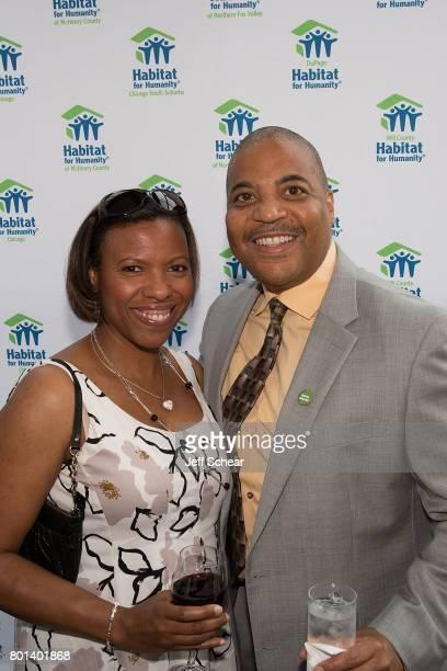 Tanya and Carlos Nelson Executive Director Greater AuburnGresham Development Corporation and Chicagoland Habitat board member at the Habitat Hero...