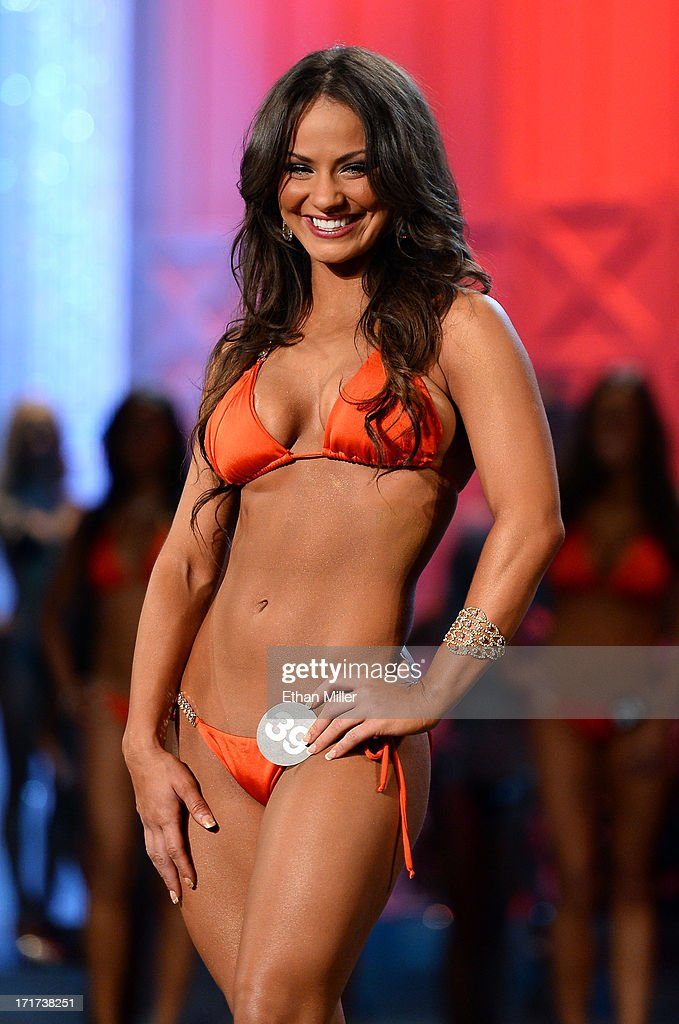 Tanya Borrero-Borreli of Orange Park, Florida competes during the 17th annual Hooters International Swimsuit Pageant at The Joint inside the Hard Rock Hotel & Casino on June 27, 2013 in Las Vegas, Nevada.