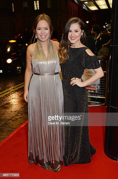 Tanya Burr and Electra Formosa attend the UK Premiere of 'Dallas Buyers Club' at The Curzon Mayfair on January 29 2014 in London England