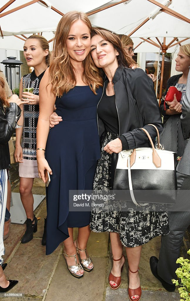 <a gi-track='captionPersonalityLinkClicked' href=/galleries/search?phrase=Tanya+Burr&family=editorial&specificpeople=9983702 ng-click='$event.stopPropagation()'>Tanya Burr</a> (L) and Emily Dean attend an intimate dinner hosted by <a gi-track='captionPersonalityLinkClicked' href=/galleries/search?phrase=Tanya+Burr&family=editorial&specificpeople=9983702 ng-click='$event.stopPropagation()'>Tanya Burr</a> to launch her first cookbook 'Tanya Bakes' at Number Sixteen on June 30, 2016 in London, England.