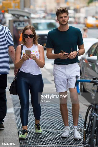 Tanya Burr and Jim Chapman are seen in Tribeca on July 11 2017 in New York City
