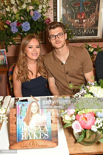 Tanya Burr and Jim Chapman attend an intimate dinner hosted by Tanya Burr to launch her first cookbook 'Tanya Bakes' at Number Sixteen on June 30...