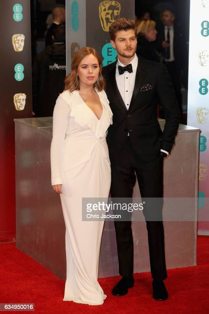 Tanya Burr and Jim Chapman attend the 70th EE British Academy Film Awards at Royal Albert Hall on February 12 2017 in London England
