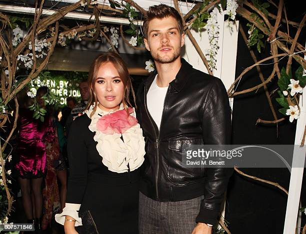 Tanya Burr and Jim Chapman attend the Sunday Times Styles Fashion Special party during London Fashion Week Spring/Summer collections 2017 at L'Eden...