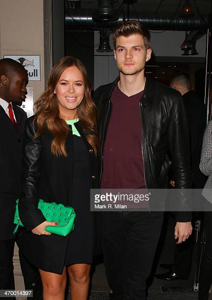 Tanya Burr and Jim Chapman sighted at the Storm model agency party during London Fashion Week on February 17 2014 in London England