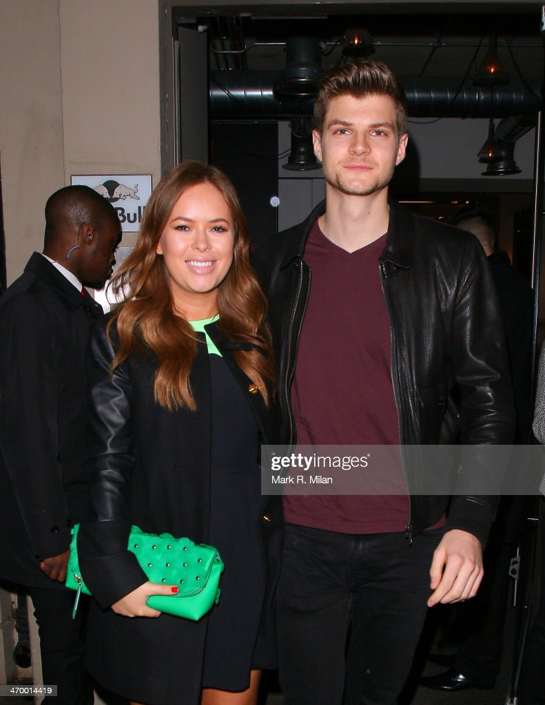 Tanya Burr and Jim Chapman sighted at the Storm model agency party during London Fashion Week on February 17, 2014 in London, England.