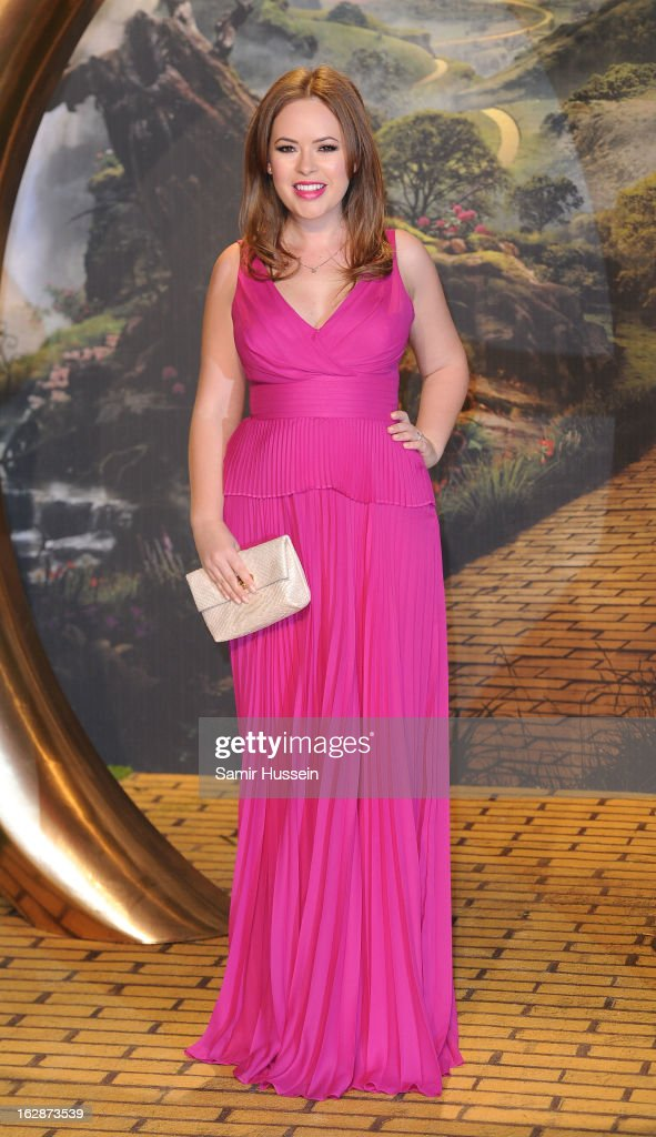 Tanya Burr arrives for the 'Oz: The Great And Powerful' European premiere at the Empire Leicester Square on February 28, 2013 in London, England.