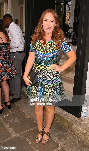 Tanya Burr attending the Heist private view and party on June 12 2014 in London England