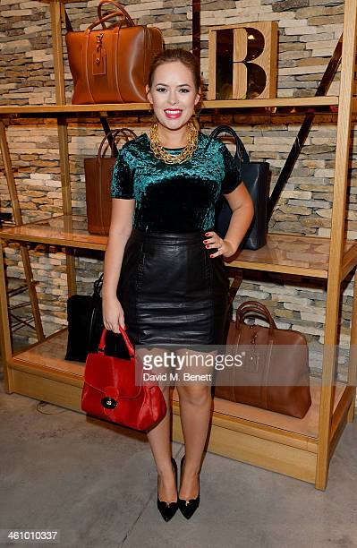 Tanya Burr attends a cocktail party hosted by Mulberry in its flagship store on New Bond Street in celebration of London Collections Mens and...