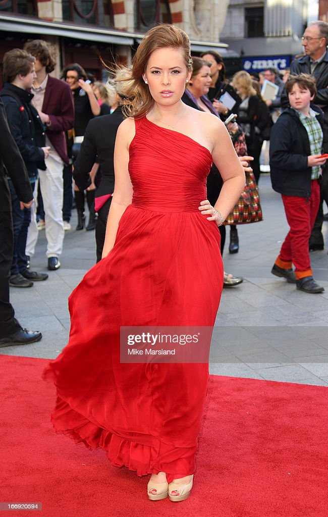 Tanya Burr attends a special screening of 'Iron Man 3' at Odeon Leicester Square on April 18, 2013 in London, England.
