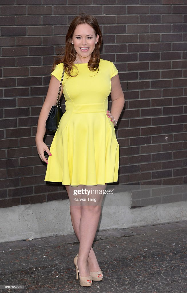 Tanya Burr attends as Chickenshed perform a caberet showcase>> at The London Television Centre on April 16, 2013 in London, England.