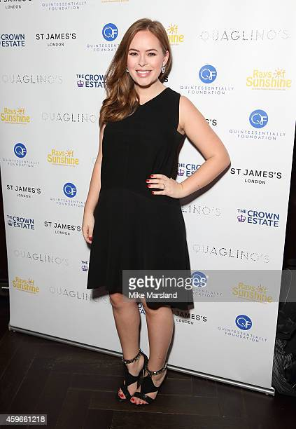 Tanya Burr attends the after party for the Fayre of St James Christmas Concert on November 27 2014 in London England