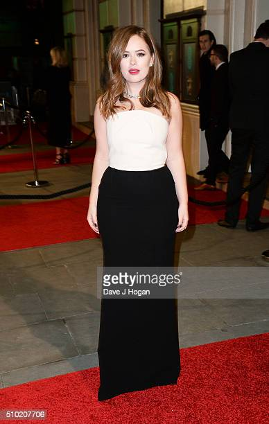 Tanya Burr attends the EE British Academy Film Awards at The Royal Opera House on February 14 2016 in London England