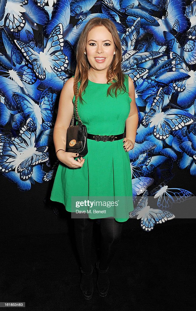 Tanya Burr attends the Mulberry Autumn Winter 2013 show during London Fashion Week at Claridge's Hotel on February 17, 2013 in London, England.