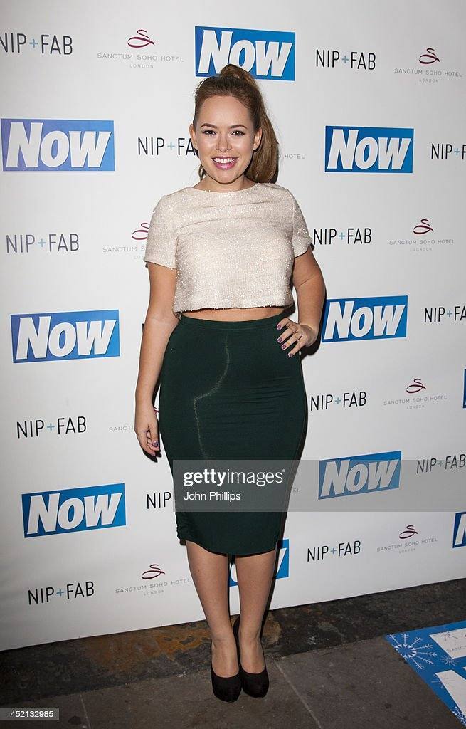 Tanya Burr attends the Now Magazine Christmas party at Soho Sanctum Hotel on November 26, 2013 in London, England.