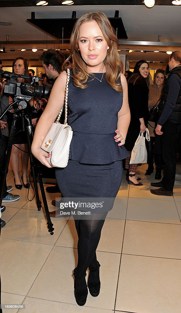 Tanya Burr attends the Panasonic Technics 'Shop To The Beat' Party hosted by George Lamb at French Connection, Oxford Circus, on March 13, 2013 in London, England.
