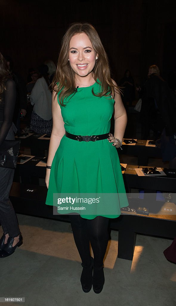 Tanya Burr attends the Topshop Unique show at the Tate Modern during London Fashion Week Fall/Winter 2013/14 on February 17, 2013 in London, England.