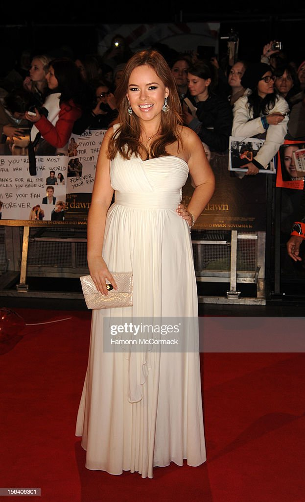 Tanya Burr attends the UK Premiere of 'The Twilight Saga: Breaking Dawn - Part 2' at Odeon Leicester Square on November 14, 2012 in London, England.