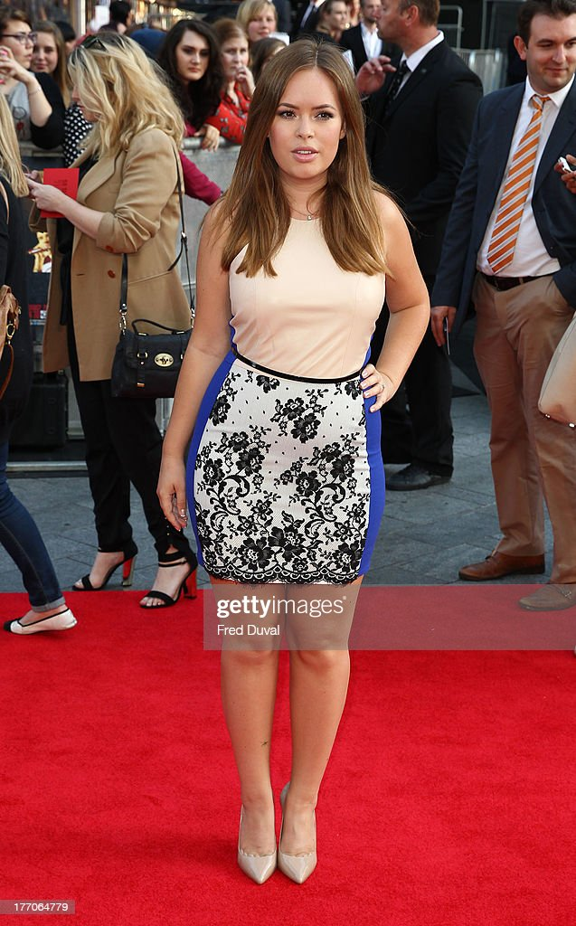 Tanya Burr attends the World Premiere of 'One Direction: This Is Us' at Empire Leicester Square on August 20, 2013 in London, England.