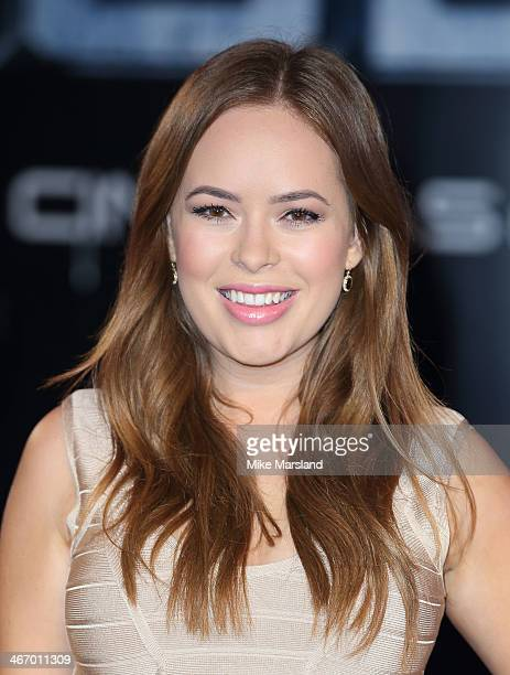 Tanya Burr attends the World Premiere of 'Robocop' at BFI IMAX on February 5 2014 in London England