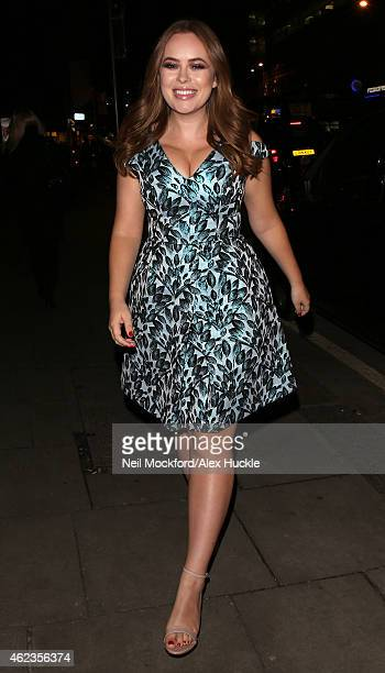 Tanya Burr seen arriving at The Rosewood Hotel for her 'Love Tanya' Book Launch Party on January 27 2015 in London England