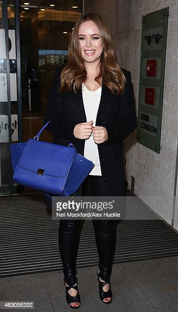Tanya Burr seen at BBC Radio One promoting her new book 'Love Tanya' on February 9 2015 in London England
