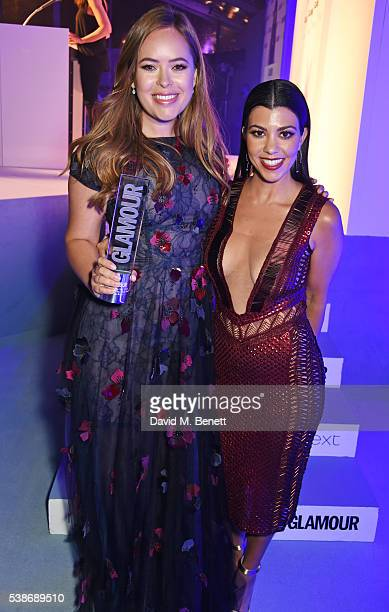 Tanya Burr winner of the Manuka Doctor Youtuber award and presenter Kourtney Kardashian attend the Glamour Women Of The Year Awards in Berkeley...