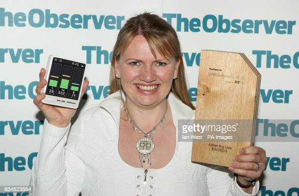 Tanya Ewing founder of EWGECO wins the Big Idea of the Year award at The Observer Ethical Awards 2008 at the Hempel Hotel in London