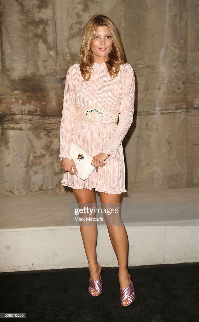 Tanya Gacic arrives ahead of the Myer AW16 Fashion Launch on February 11, 2016 in Sydney, Australia.