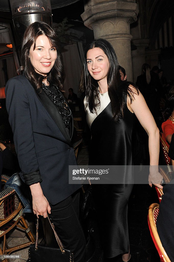 Tanya Gill and Rochelle Gores Fredston attend Juan Carlos Obando Jewelry Collection Launch Dinner at Chateau Marmont on November 15, 2012 in Los Angeles, California.