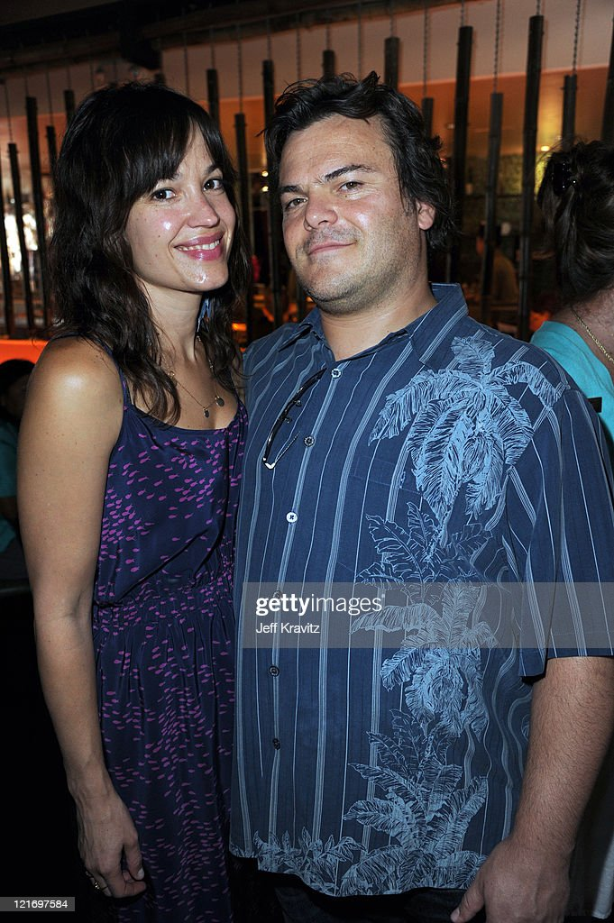 Tanya Haden and Jack Black attend the reception for 'The Power Of Two' world premiere celebration hosted by OneLegacy and Donate Life Hollywood at Sushi Dan on August 21, 2011 in West Hollywood, California.