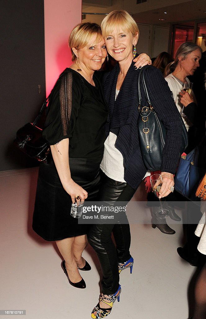 Tanya Hughes (L) and Jane Boardman attend the Conde Nast College of Fashion & Design opening party at 16/17 Greek Street on April 30, 2013 in London, England.
