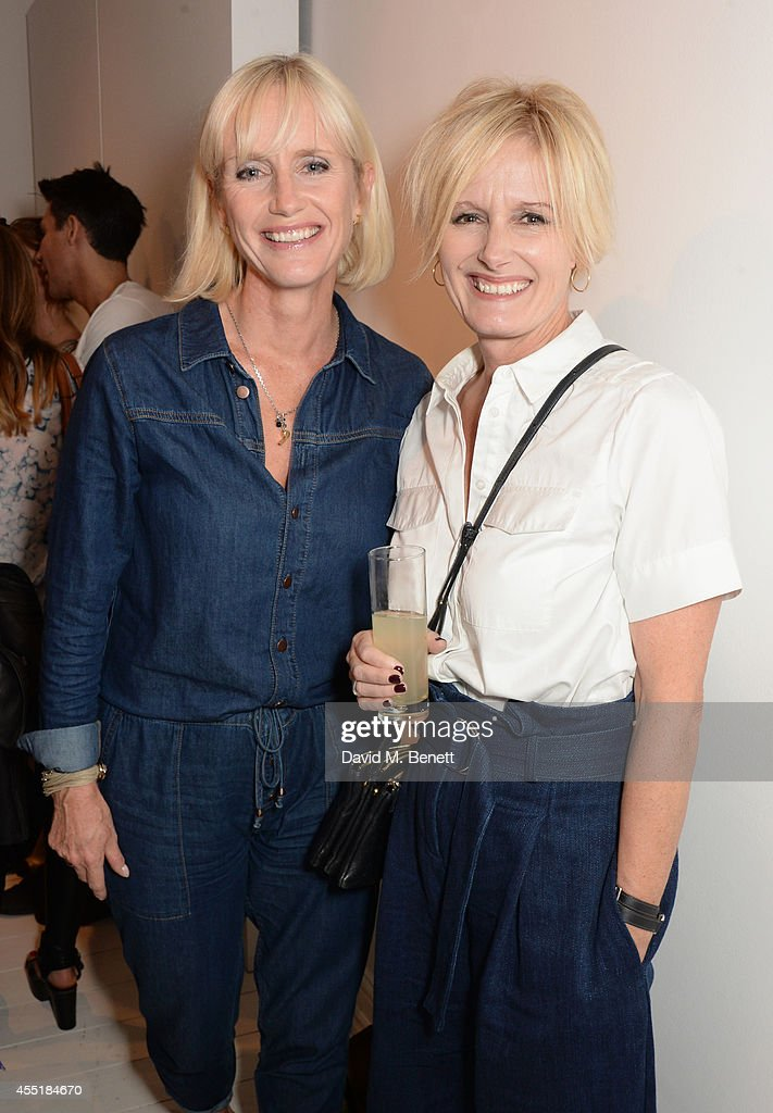 Tanya Hughes and Whistles CEO Jane Shepherdson attend the Whistles x GQ Style House Party on September 10 2014 in London England