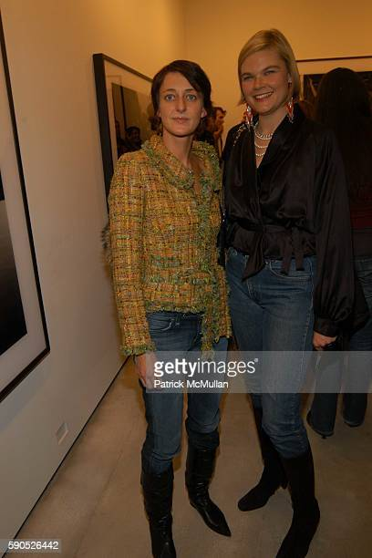 Tanya Jensen and Kate Shelter attend The Opening of 'Pam American Icon' Photographs by Sante D'Orazio at Stellan Holm Gallery on January 21 2005 in...