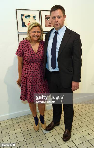Tanya Ling and William Ling attend the Fashion Illustration Gallery Art Fair private view at The Shop at Bluebird cohosted b Lucinda Chambers and...