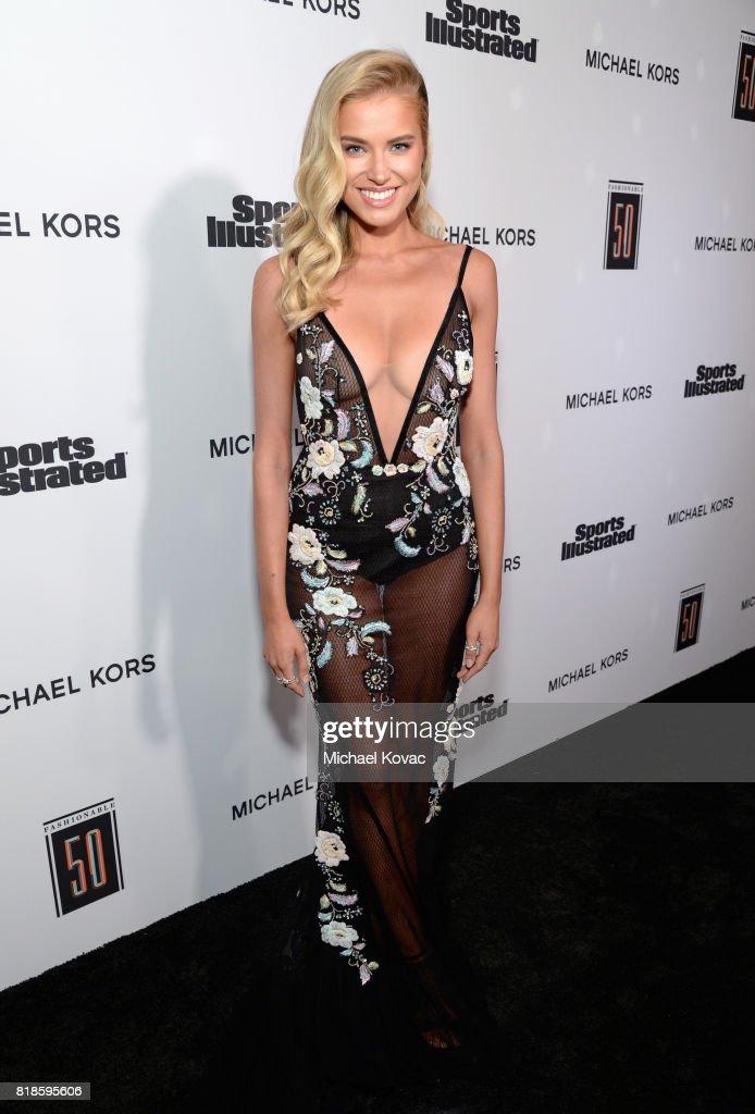 Tanya Mityushina at Sports Illustrated 2017 Fashionable 50 Celebration at Avenue on July 18, 2017 in Los Angeles, California.