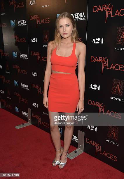 Tanya Mityushina attends the premiere of 'Dark Places' at Harmony Gold Theatre on July 21 2015 in Los Angeles California