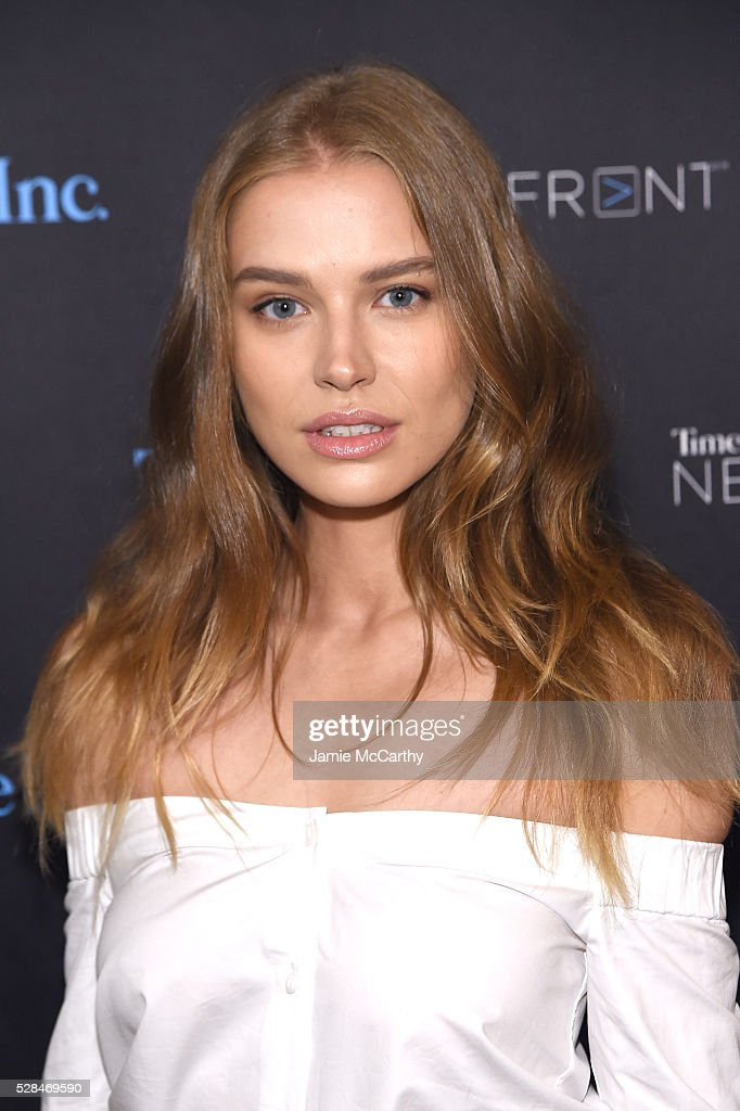 <a gi-track='captionPersonalityLinkClicked' href=/galleries/search?phrase=Tanya+Mityushina&family=editorial&specificpeople=10491259 ng-click='$event.stopPropagation()'>Tanya Mityushina</a> attends the TimeInc. NEWFRONT at Gotham Hall on May 5, 2016 in New York City.