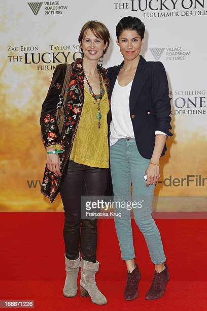 Tanya Neufeldt And Jasmin Gerat For The German premiere of The Lucky One In Cinestar at Potsdamer Platz in Berlin